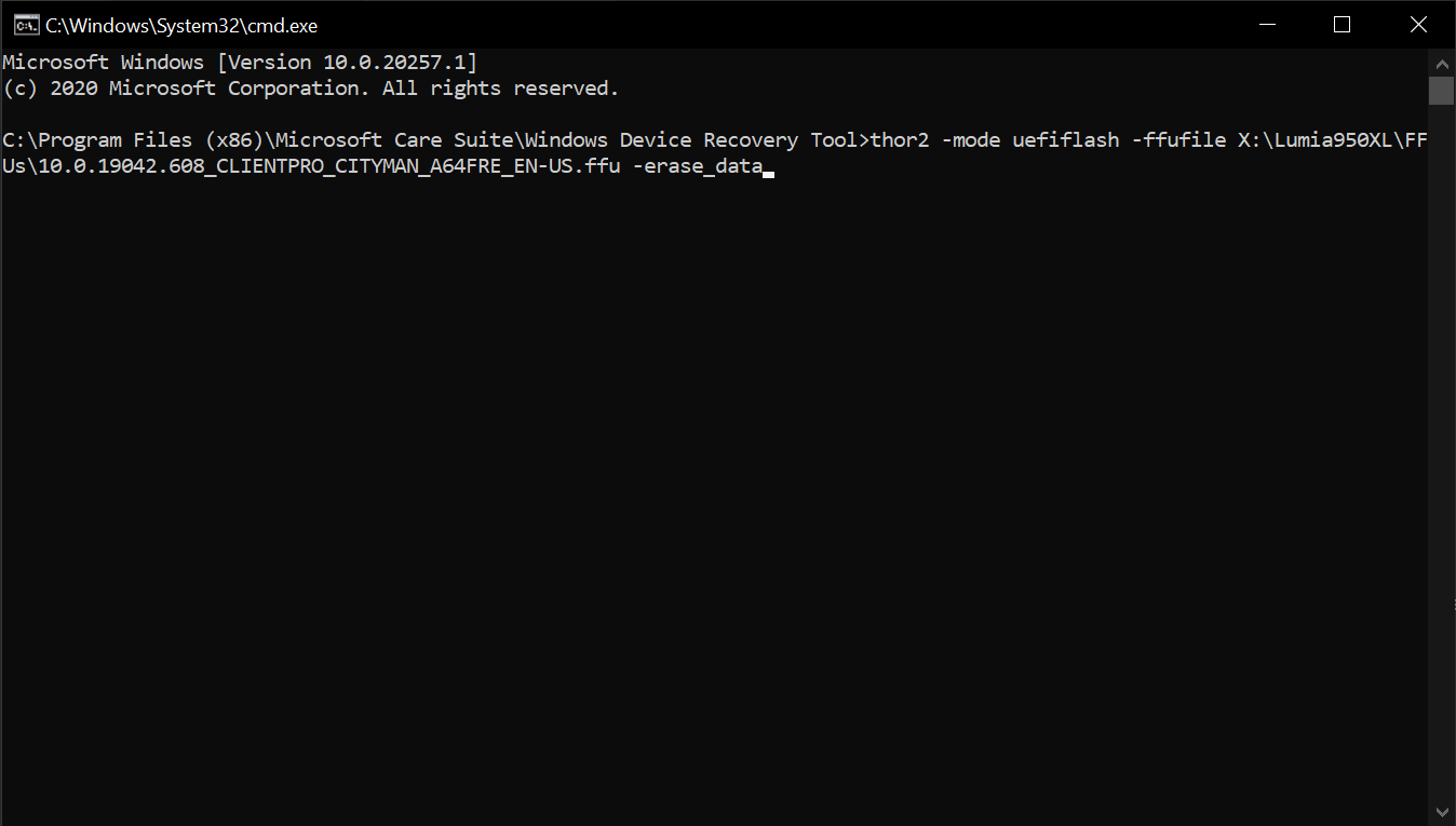the first cmd command