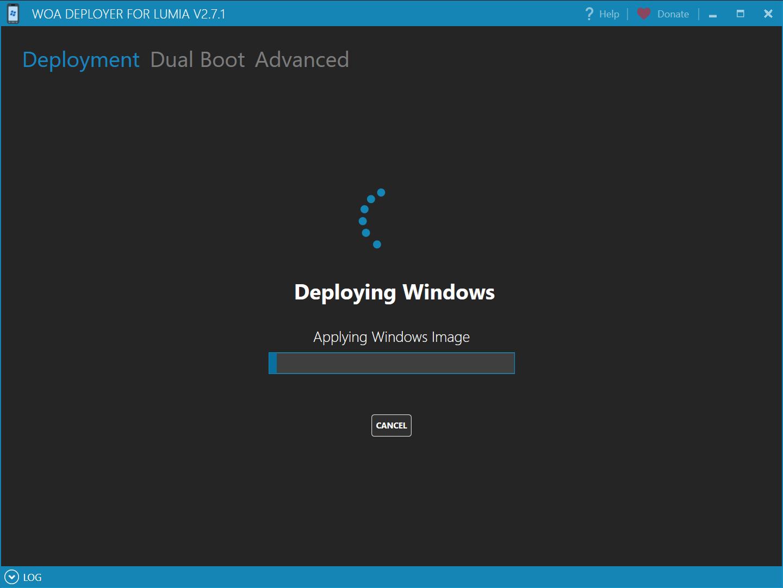 WoaDeployer is deploying Windows